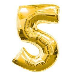 Number 5 95cm Gold