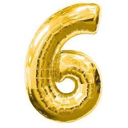 Number 6 95cm Gold