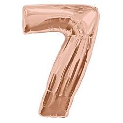 Number 7 95cm Rose Gold