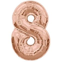 Number 8 95cm Rose Gold
