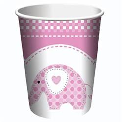 Sweet Baby Elephant Pink Christening Cups