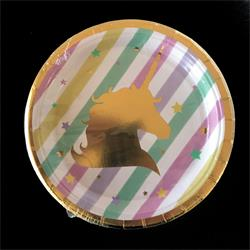Unicorn paper plate 17cm. Pack of 6