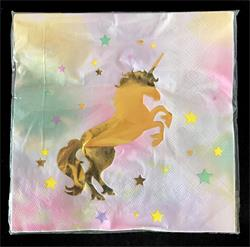 Unicorn Napkin 33cm x 33cm. Pack of 10
