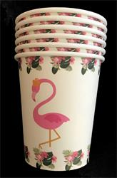 Flamingo paper cup 230ml. Pack of 10