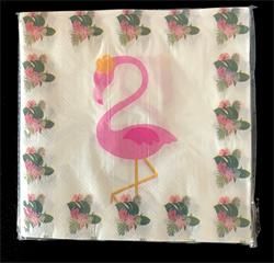 Flamingo Napkin 33cm. Pack of 20