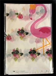 Flamingo plastic Tablcover 100cm x 180cm.