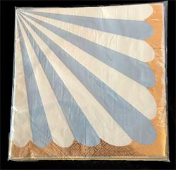 Candy Stripe Blue Napkin 33cm. Pack of 10