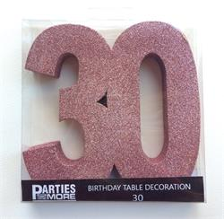 Foam Glitter Number 30 Centerpiece Rose Gold
