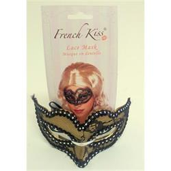 Mask Lace Gold and Black Cloth Covered