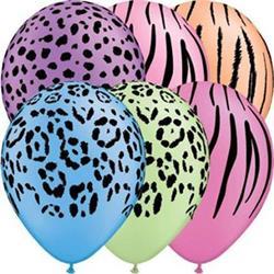 Qualatex Balloons Safari Neon Assortment 28cm