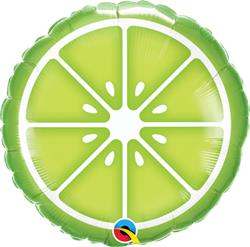 Qualatex Balloons Sliced Lime 45cm