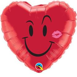 Qualatex Balloons Naughty Smile & Kiss 45cm