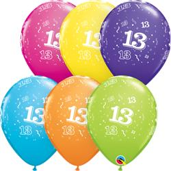 Qualatex Balloons 10 Around Tropical Asst. 28cm