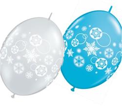 Quicklink Balloons Snowflakes and Circles 30cm Qualatex