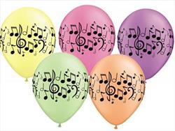 Qualatex Balloons Music Notes Neon Asst 28cm.