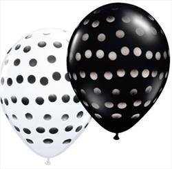 Polka Dot Black and White 28cm