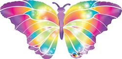 Qualatex foil Balloon Luminous Butterfly 111cm