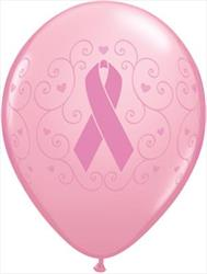 Qualatex Balloons Breast Cancer Awareness Pink 28cm