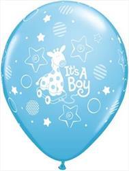 Qualatex Balloons Its A Boy Soft Giraffe 28 cm