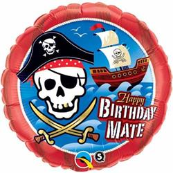 Qualatex Balloons Birthday Mate Pirate Ship 45cm