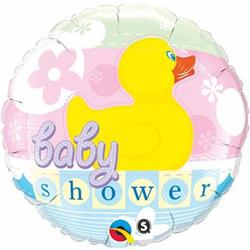 Qualatex Balloons Baby Shower Rubber Duckie 45cm