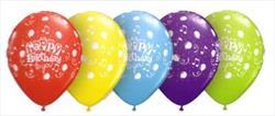 Qualatex Balloons Happy Birthday To You Asstd 28 cm 25 count