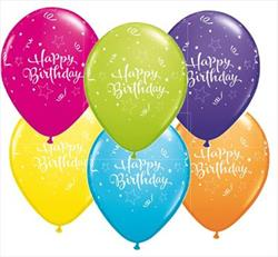 Birthday Shining Star tropical Asst 25 count