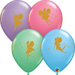 Qualatex Balloons Special Asst Fairies & Sparkles double sided print 28cm