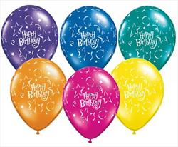 Qualatex Balloons Birthday Star & Balloons 28 cm