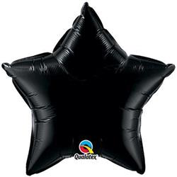 Star Foil Black 50cm   Unpackaged