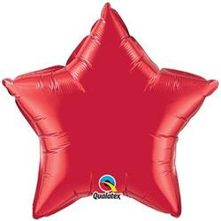 Star Foil Ruby Red 50cm Unpackaged