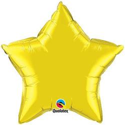 Star Foil Citrine Yellow 50cm   Unpackaged