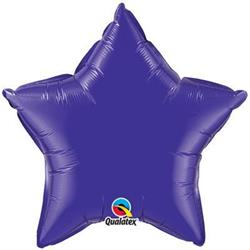 Star Foil Purple 50cm   Unpackaged