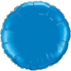 "Circle Foil Sapphire Blue 36"""