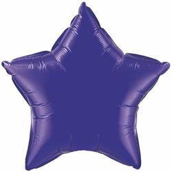 Qualatex Balloons 23cm Star  Quartz Purple