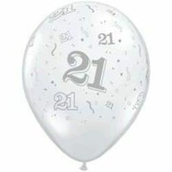 Qualatex Balloons 21 Around Diamond Clear 28cm