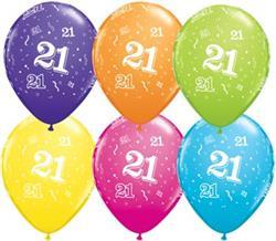 Qualatex Balloons 21 Around Tropical Asst.