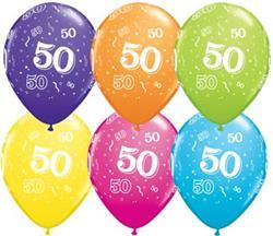 Qualatex Balloons 50 Around Tropical Asst.