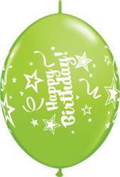 Quicklink Balloons happy Birthday Tropical Asst 30cm Qualatex
