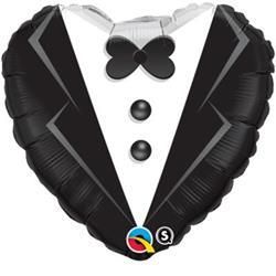 Qualatex Balloons Heart Foil Tuxedo 45cm