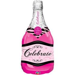 Celebrate Pink Bubbly Wine Bottle 99cm