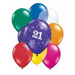 Qualatex Balloons 21 Around Jewel Tone  Asst 12cm