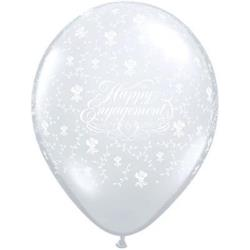Qualatex Balloons Engagement Flowers Around D/Clear 28cm