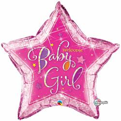 Welcome Baby Girl Stars 90cm