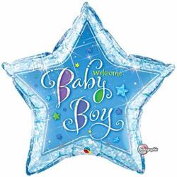 Welcome baby Boy Stars 90cm