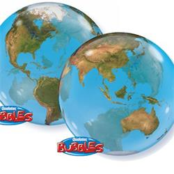 Globe  of the World Bubble 55cm