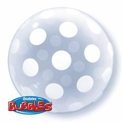 Qualatex Balloons Deco Bubble Big Polka Dots Around 50.8cm