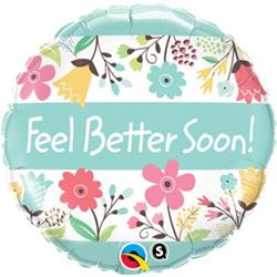 Qualatex Balloons Feel Better Soon 45cm