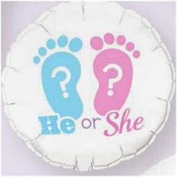 He Or She? Footprints