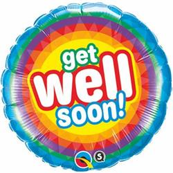 Qualatex Balloons Get Well Soon Radiant 45cm